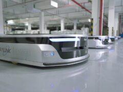 Роботы Geek+ m1000 на заводе INLAYLINK_1