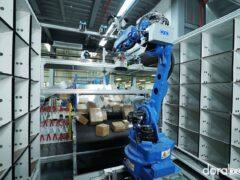 Сортировка по ячейкам манипулятором Dorabot Cabinet Sorting - 07
