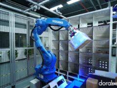 Сортировка по ячейкам манипулятором Dorabot Cabinet Sorting - 09