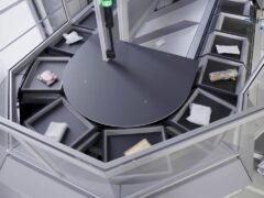 Single cross tray sorter - 6