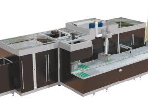 Автоматическая упаковка содержимого в коробку по его размеру - это машина CMC Genesys