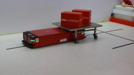 Транспортный робот с навигацией по магнитной ленте Casun